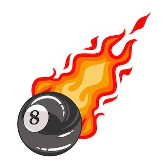 Ilustração bilhar bola oito