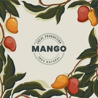 Ilustração botânica da mangueira Vetor grátis