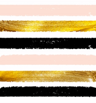 Ilustração brilhante de tinta dourada.