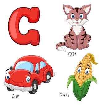 Ilustração, c, alfabeto