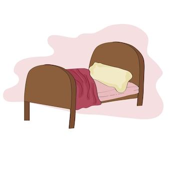 Ilustração cama de criança