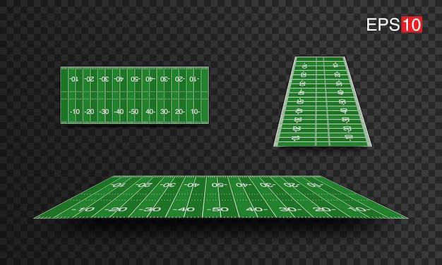 Ilustração campos de futebol americano