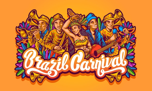 Ilustração carnaval brasil