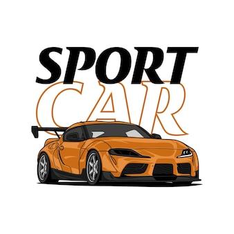 Ilustração carro esporte