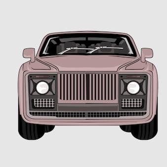 Ilustração carro impala clássico retro vintage