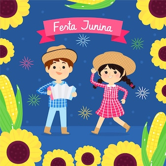 Ilustração cartoon festa junina