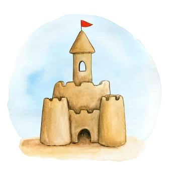 Ilustração castelo de areia
