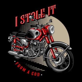 Ilustração clássica da motocicleta