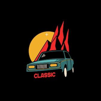 Ilustração clássica do carro