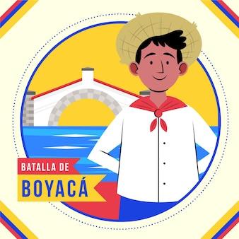 Ilustração colombiana de batalla de boyaca