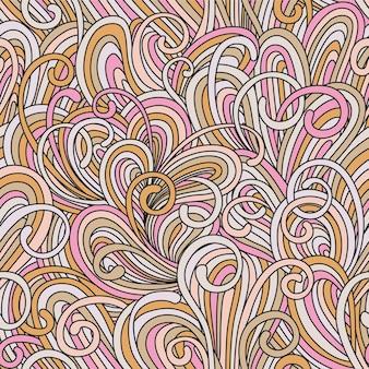 Ilustração colorida brilhante sem costura padrão abstrato com ondas