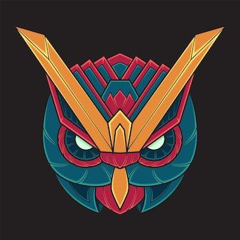 Ilustração colorida da coruja