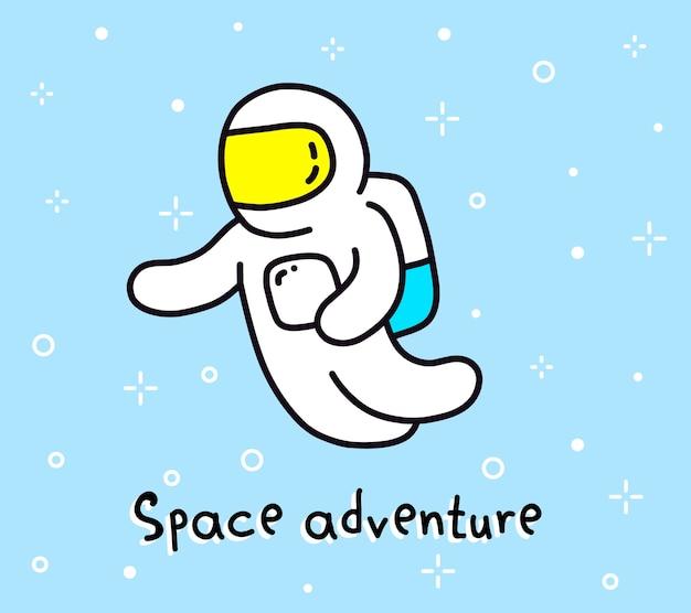 Ilustração colorida de aventura espacial