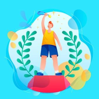 Ilustração colorida de competição esportiva