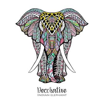Ilustração colorida de elefante