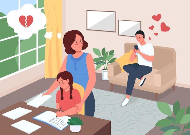 Ilustração colorida de infidelidade