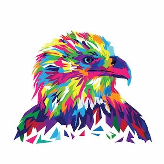 Ilustração colorida de vetor de águia