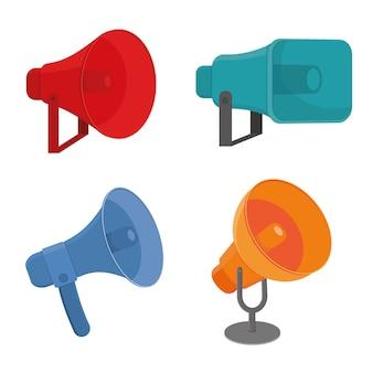Ilustração colorida de vetor de alto-falante isolado em estilo cartoon