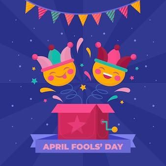 Ilustração colorida do dia da mentira