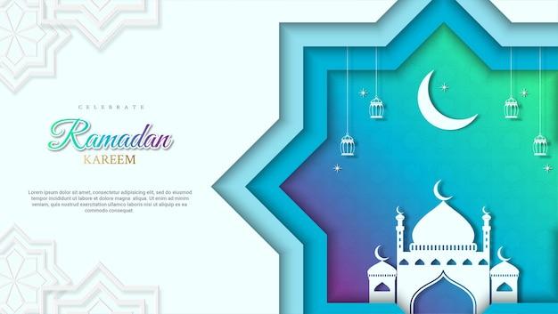 Ilustração colorida do fundo do feriado do ramadã