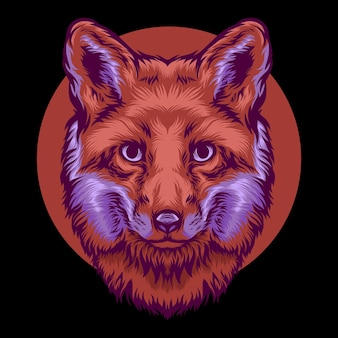 Ilustração colorida do lobo principal