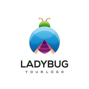 Ilustração colorida do logotipo de joaninha