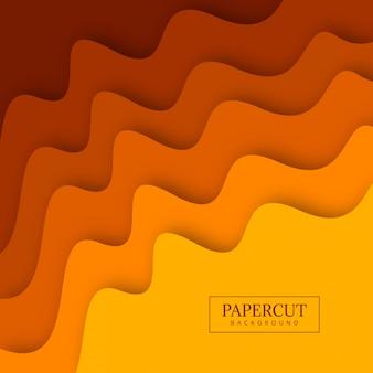 Ilustração colorida do projeto da onda de papercut