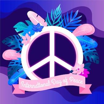 Ilustração colorida do sinal de paz