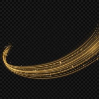 Ilustração colorida do vetor com elementos decorativos dourados sobre o fundo preto. modelos abstratos para design de férias