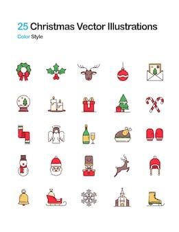Ilustração colorida em natal