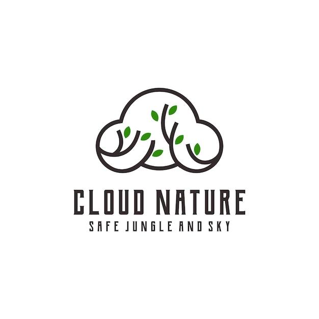 Ilustração colorida gradiente do logotipo da nuvem