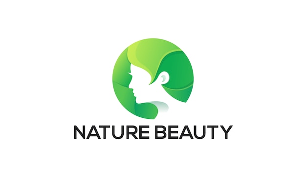 Ilustração colorida natureza beleza logotipo modelo.
