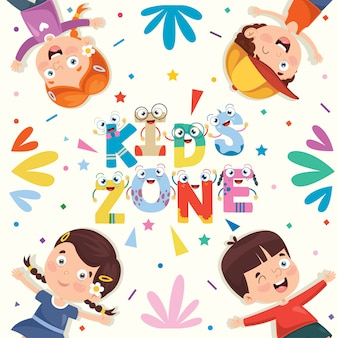 Ilustração colorida para feliz dia das crianças