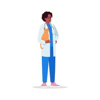 Ilustração colorida para veterinário semi rgb