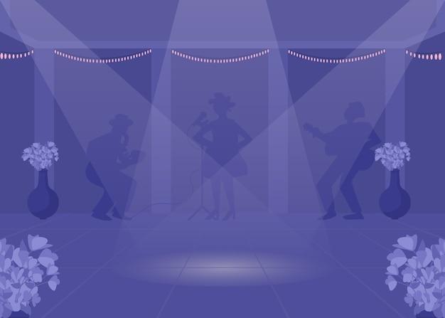 Ilustração colorida plana da pista de dança