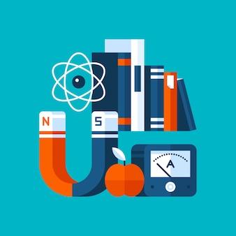 Ilustração colorida sobre física