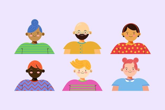 Ilustração com avatares de pessoas