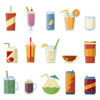 Ilustração com bebidas não alcoólicas