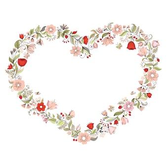 Ilustração com coração de flor. pode ser usado para convite de casamento, cartão para dia dos namorados ou cartão sobre o amor