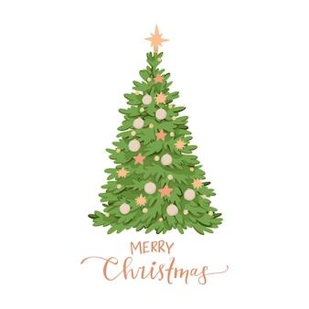 Ilustração com decorações para árvores de natal.