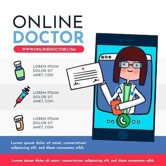 Ilustração com design médico on-line