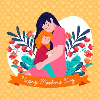 Ilustração com dia das mães