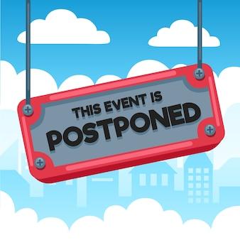 Ilustração com evento adiado