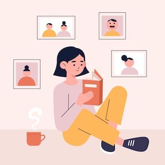 Ilustração com memórias pessoais