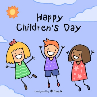 Ilustração com mensagem de feliz dia das crianças