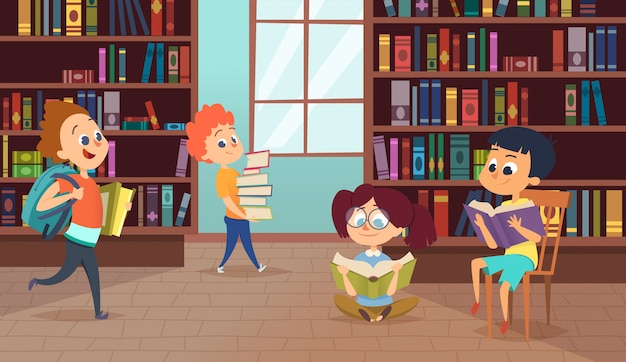 Ilustração com personagens da escola. imagens de vetor de alunos