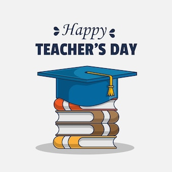 Ilustração com saudações do feliz dia do professor
