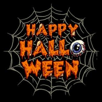 Ilustração com tema de halloween slime lettering