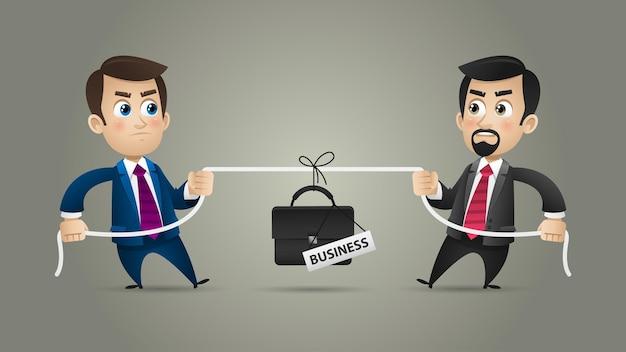 Ilustração, conceito de competição de empresários em negócios, formato eps 10