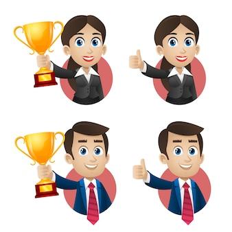 Ilustração, conceito de sucesso de empresários nos negócios, formato eps 10